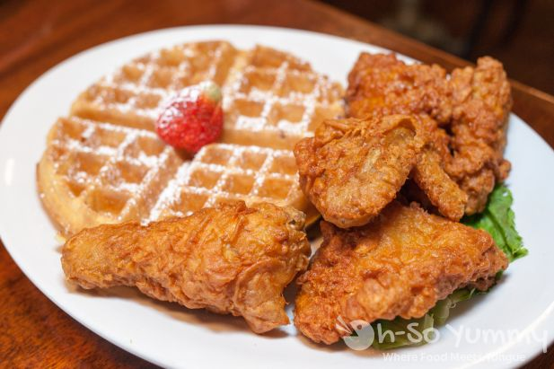 Chicken and Waffles at Brian's 24 in downtown San Diego