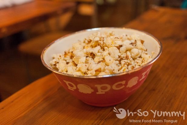 chili flake and lemon popcorn at Brooklyn Girl Eatery in San Diego