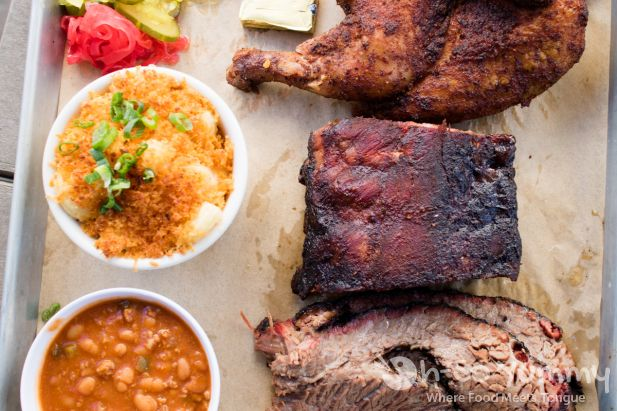 Barbecue Sampler Plate at Coaster Saloon in Mission Beach San Diego