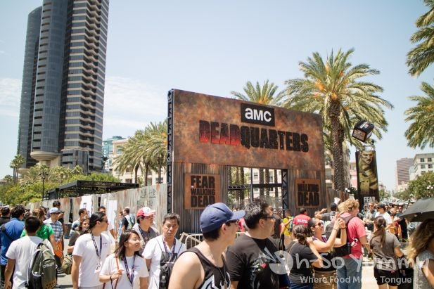 The Walking Dead exhibit outside of San Diego Comic Con 2017
