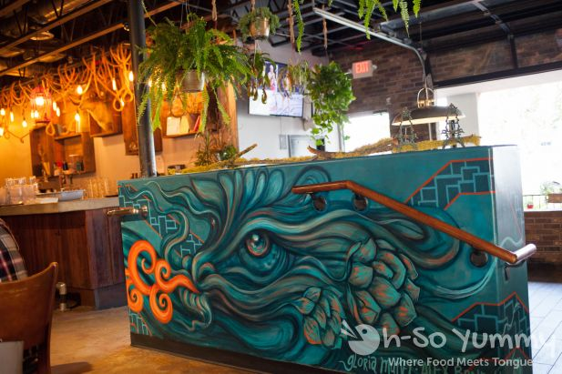 New dragon artwork at Common Theory Public House in San Diego