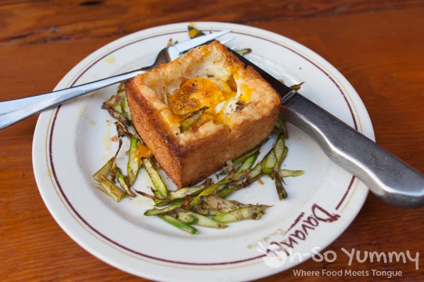 truffle egg toast at Davanti Enoteca in Del Mar