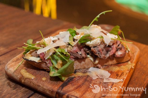 Open Face Steak Sandwich from Eat at the Pearl Hotel, San Diego CA
