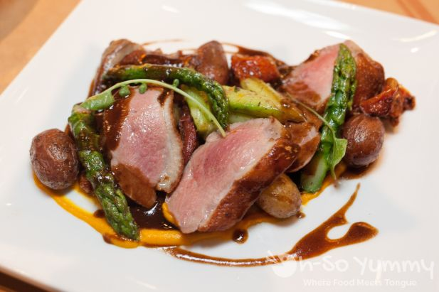 Duck Breast at Et Voila French Bistro in San Diego