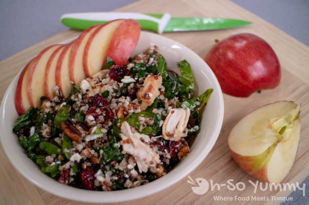 Autumn Kale Apple and Quinoa Salad from Cooking Classy recipe