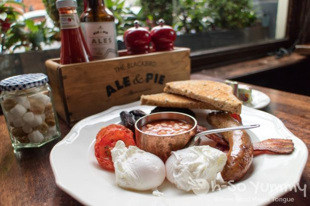 English Breakfast at Blackbird in London UK