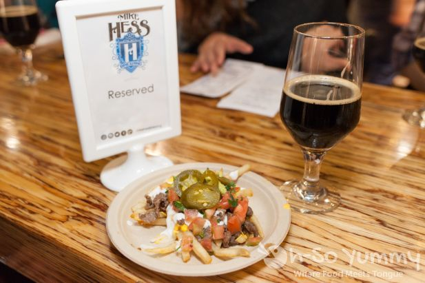 food and beer pairing at Mike Hess Brewing