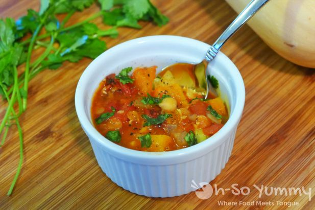 Moroccan Spiced Lentil Soup with Butternut Squash, Garbanzo and Fava Beans   Oh-So Yummy