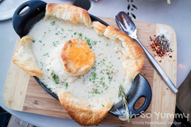 chicken pot pie at Queenstown Public in San Diego
