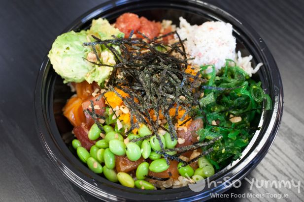 poke bowl at San Diego Poke Co
