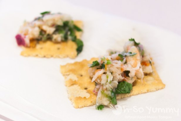 Taste of North Park 2014 - shrimp ceviche at Queen Bees