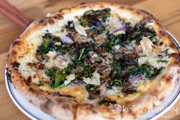 Wild Mushroom Woodfired Pizza at Gravity Heights in San Diego