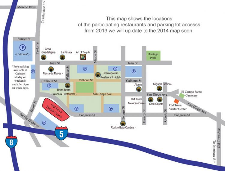 Taste of Old Town Map 2014