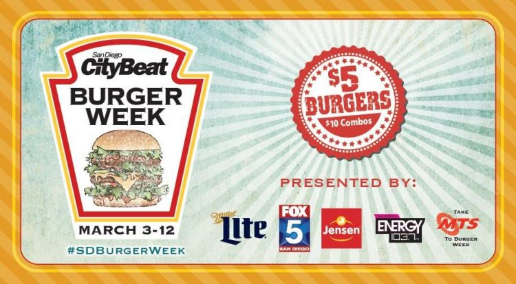 San Diego CityBeat Burger Week 2016 flyer