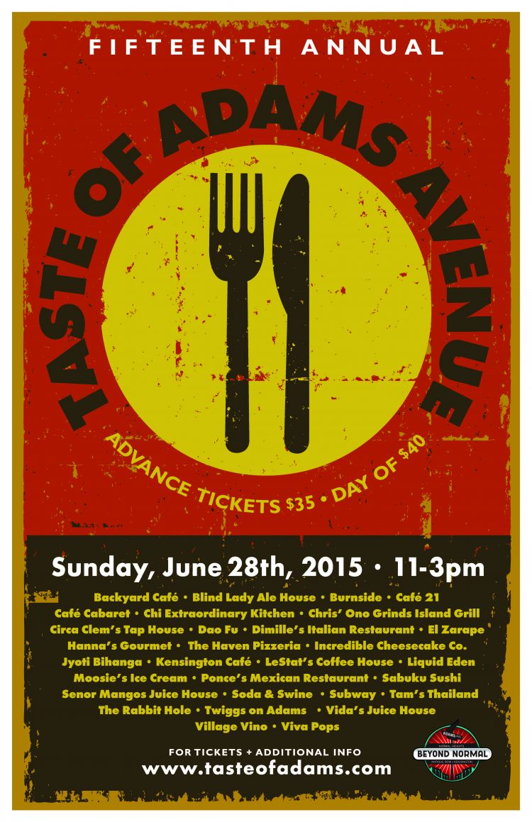 Taste of Adams Avenue 2015 poster