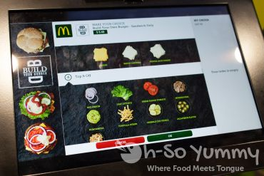 McDonald's Build Your Own Burger Customizer