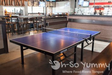 ping pong tables at Draft Republic in La Jolla