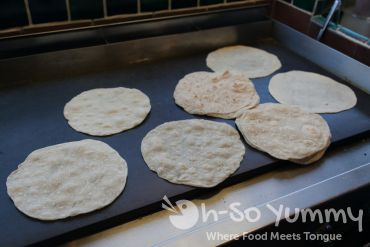 fresh tortillas made at Cafe Coyote in Old Town San Diego