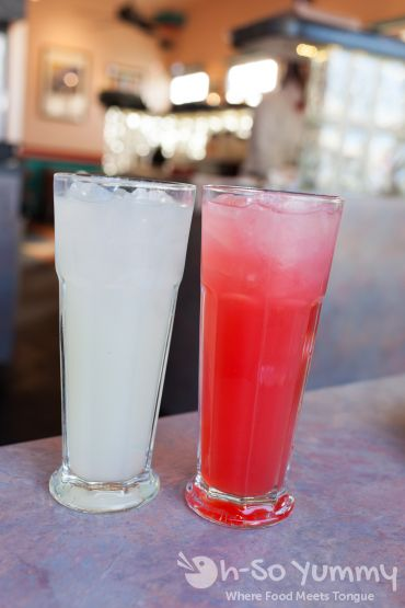 italian soda and lemonade at Crest Cafe