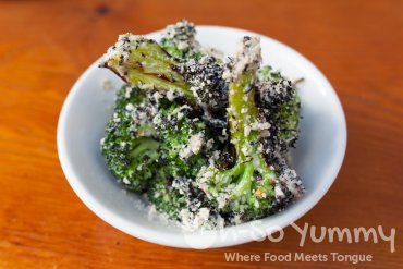 charred broccoli at Davanti Enoteca in Del Mar