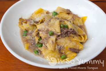 housemade pappardelle at Davanti Enoteca in Del Mar