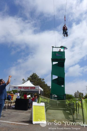 zipline at Harborfest in Chula Vista