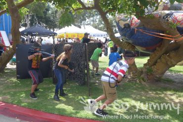 outdoor laser tag at Harborfest in Chula Vista