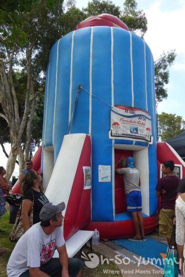 parachute rocket at Harborfest in Chula Vista