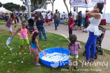 bubble pools at Harborfest in Chula Vista