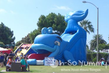 inflatable play areas at Harborfest in Chula Vista