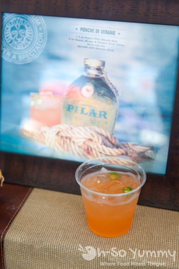 ponche de verano with Papa Pilar Rum at Latin Food Fest San Diego