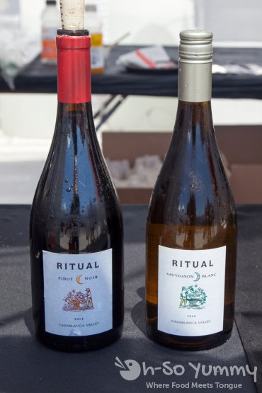 Ritual wine pinor noir and sauvignon blanc at Latin Food Fest San Diego