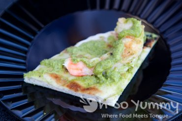 Indigo Grill grilled flatbread with shrimp at Latin Food Fest San Diego