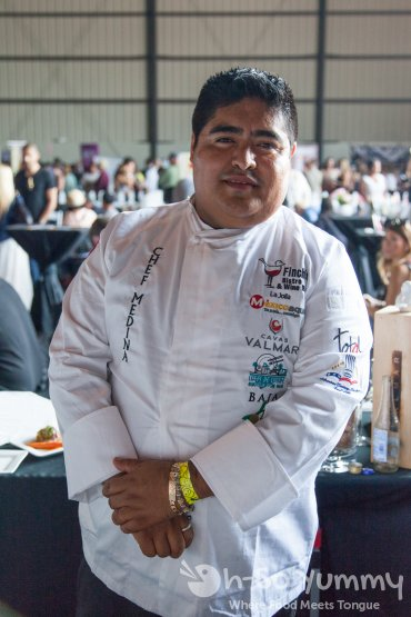 chef medina (finch's bistro) at Latin Food Fest 2015 in Los Angeles