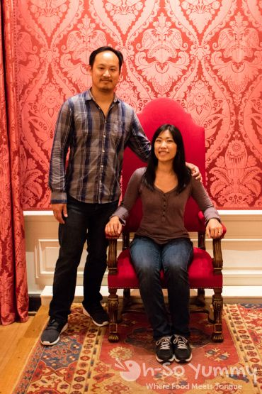 On the throne at Kensington Palace in London UK