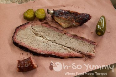 brisket closeup at City Market in Luling Texas
