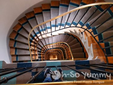 staircase in Hotel de Gobelins in Paris France