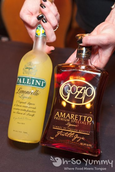pallini limoncello and gozio amaretto at pechanga chocolate decadence