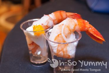 jumbo shrimp from journeys end at Pechanga Wine Festival