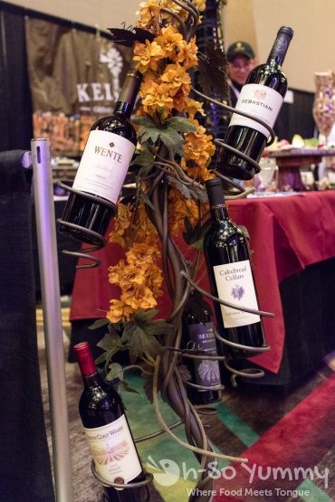 wine tree rack at the 10th annual wine festival at pechanga