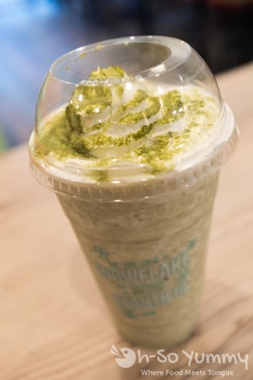 Banana Green Tea Smoothie at San Diego Snowy Village in Mira Mesa