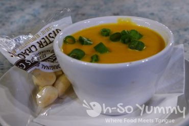 jalapeno beer cheese soup at Callahans during San Diego Burger Week