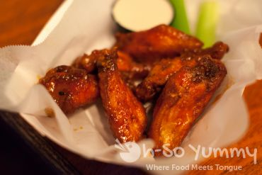 honey habanero wings at South Park Abbey during San Diego Burger Week