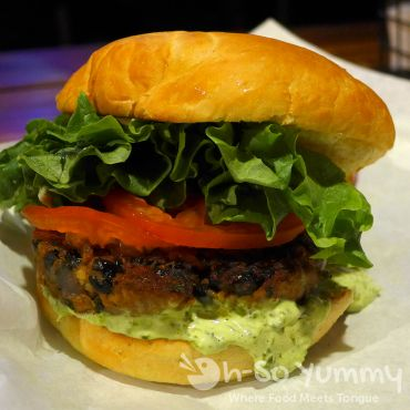 Black Bean Burger from Station Tavern for San Diego Burger Week