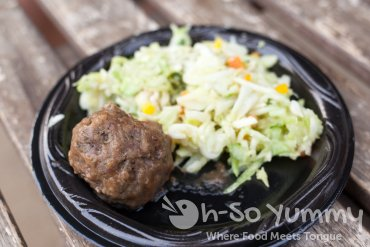 meatball and slaw from Rust General Store at Taste of Old Town 2015