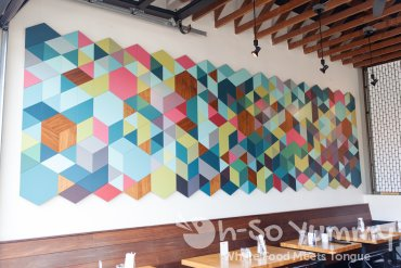 artwork on the wall at The Haven Pizzeria in San Diego