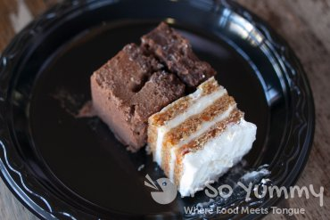 Taste of North Park 2014 - chocolate truffle cake and carrot cake at Heavenly Sent Desserts