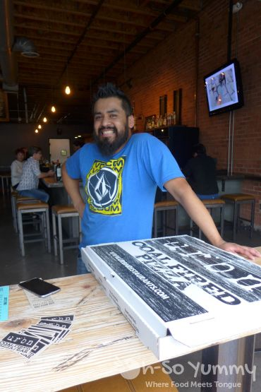 server at URBN Coal Fired Pizza during Tuesday Taste of North Park 2015