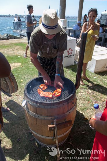 Latin Food Festival 2014 - Barrel Smoker