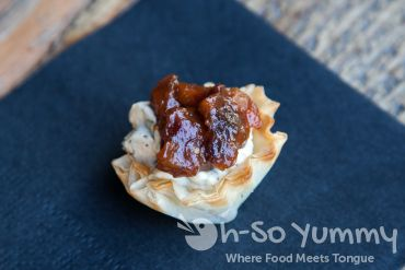 The Wedge Escondido 2014 - chutney cheese cups at Intertwined Bistro and Wine Bar